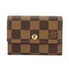 Louis Vuitton Damier Ebene Canvas Porte-Monnaie Plat Coin Case (Pre Owned)
