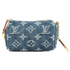 Louis Vuitton Blue Monogram Denim Speedy PM Pouch (Pre Owned)