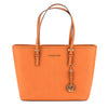 Michael Kors Orange Saffiano Leather Jet Set Travel Top-Zip Tote (New with Tags)