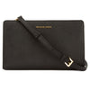 Michael Kors Black Saffiano Leather Jet Set Large Crossbody Clutch (New with Tags)