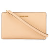 Michael Kors Oyster Saffiano Leather Jet Set Large Crossbody Clutch (New with Tags)