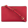 Michael Kors Cherry Saffiano Leather Jet Set Large Crossbody Clutch (New with Tags)