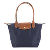 Longchamp Navy Nylon Canvas Le Pliage S Long Strap Bag (New with Tags)