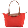 Longchamp Burnt Red Nylon Canvas Le Pliage S Long Strap Bag (New with Tags)