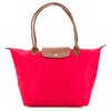 Longchamp Red Nylon Canvas Le Pliage L Long Strap Bag (New with Tags)