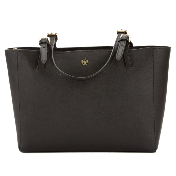 cd009b8a4ecb Tory Burch Black Saffiano Leather York Small Buckle Tote (New With ...