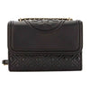 Tory Burch Black Leather Fleming Small Convertible Shoulder Bag (New With Tags)