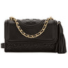 Tory Burch Black Leather Micro Fleming Crossbody Bag (New With Tags)