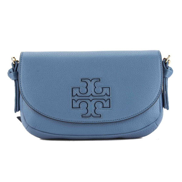 56047d5201b Tory Burch Blue Leather Harper Mini Cross-body Bag (New With Tags ...