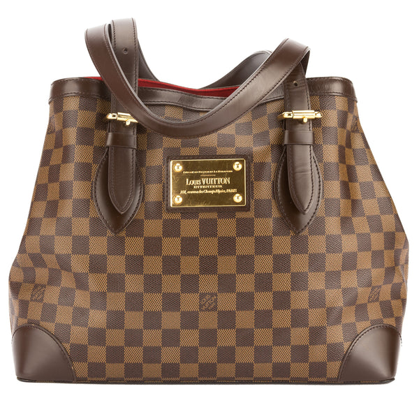 e8ccc6855f73 Louis Vuitton Damier Ebene Canvas Hampstead MM Bag (Pre Owned ...