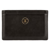 Chanel Black Caviar Leather Coco Button Card Case (Pre Owned)