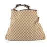 Gucci GG Monogram Canvas Chain Horsebit Hobo Bag (Pre Owned)
