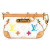 Louis Vuitton White Monogram Canvas Multicolore Pochette Milla PM Bag (Pre Owned)