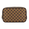 Louis Vuitton Damier Ebene Canvas Trousse Toilette 23 Cosmetic Pouch (Pre Owned)