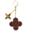 Louis Vuitton Brown and Gold Stipply Flower Key Holder Charm (Pre Owned)