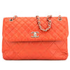 Chanel Vermilion Red Quilted Lambskin Leather Maxi Single Flap Bag (Pre Owned)