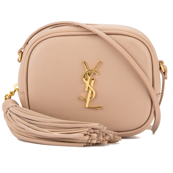 f30ad423 Saint Laurent Pale Pink Leather Monogram Blogger Bag (New with Tags)