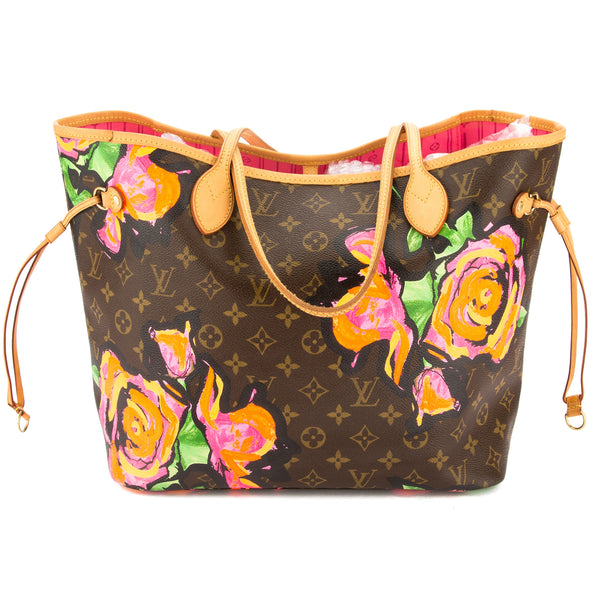 d26158d4c0ed Louis Vuitton Monogram Canvas Stephen Sprouse Roses Neverfull MM Bag Pre  Owned