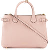 Burberry Pale Orchid Leather and House Check Medium Banner Bag (New with Tags)