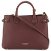 Burberry Mahogany Red Leather and House Check Medium Banner Bag (New with Tags)