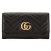 Gucci Black Leather GG Marmont Continental Wallet (New with Tags)