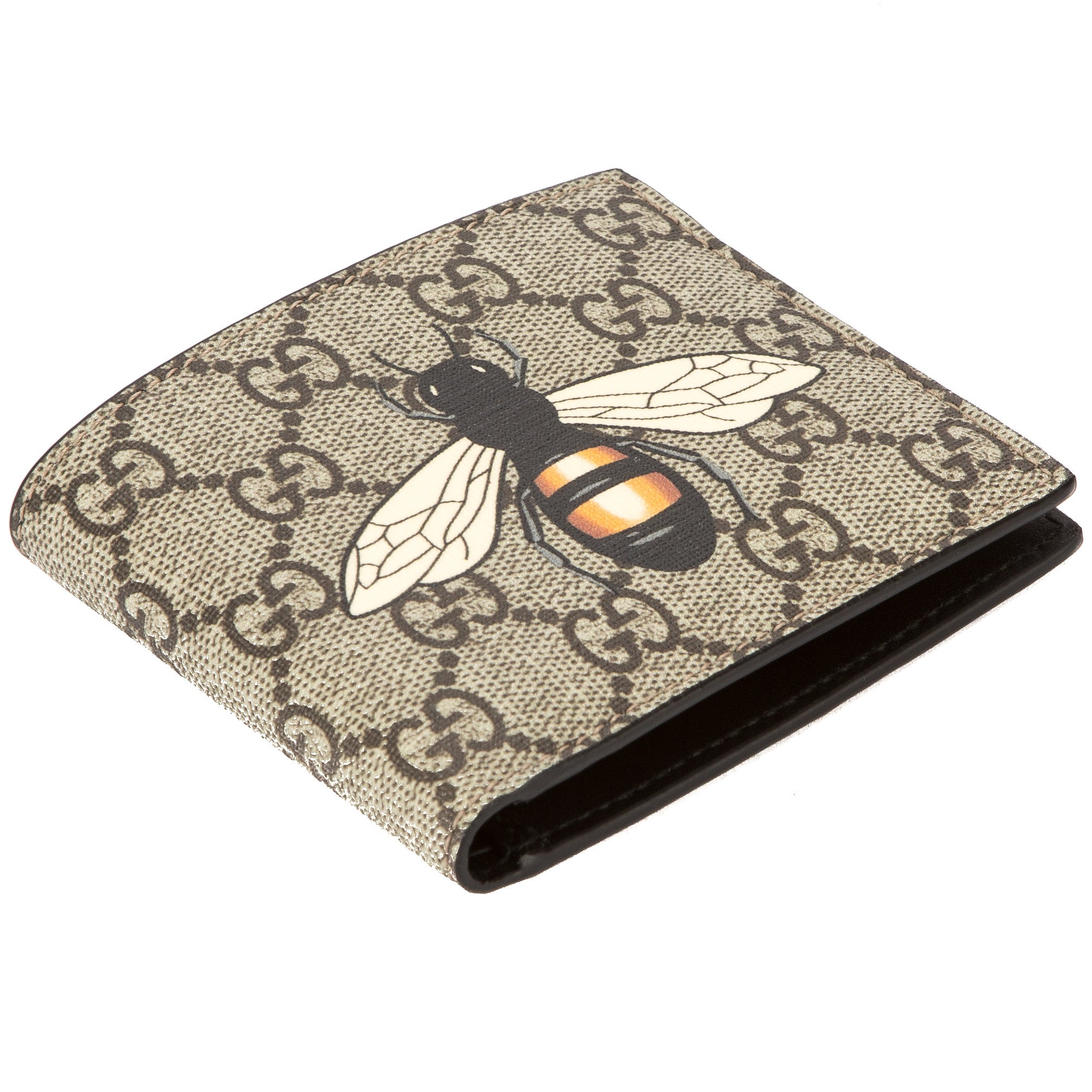 f203805176b Gucci GG Supreme Canvas Bee Print Wallet (New with Tags) - 3544010 ...