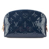 Louis Vuitton Grand Bleu Monogram Vernis Leather Cosmetic Pouch (Pre Owned)