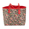 Coach Floral Print PVC Canvas and Bright Red Leather Reversible City Tote (New with Tags)