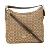 Coach Khaki Signature Canvas and Brown Leather Celeste Convertible Hobo Bag (New with Tags)