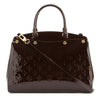 Louis Vuitton Amarante Monogram Vernis Leather Brea MM Bag (Pre Owned)