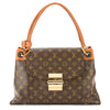 Louis Vuitton Camel Leather and Monogram Canvas Olympe Bag (Pre Owned)