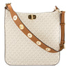 Michael Kors Vanilla Monogram Canvas Sullivan Large Logo Messenger (New with Tags)