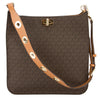 Michael Kors Brown Monogram Canvas Sullivan Large Logo Messenger (New with Tags)