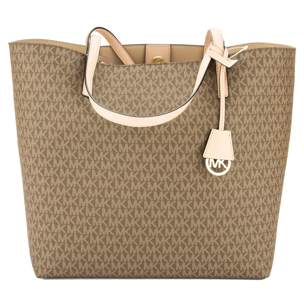 Michael Kors Mocha Signature Canvas Hayley Large East West Tote (New with Tags)