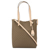 Michael Kors Mocha Signature Canvas Hayley Large North-South Tote (New with Tags)