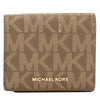 Michael Kors Mocha Signature Canvas Jet Set Travel Logo Card Case (New with Tags)