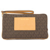 Michael Kors Brown Signature Canvas Bedford Large Double Zip Wristlet (New with Tags)