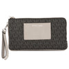 Michael Kors Black Signature Canvas Bedford Large Double Zip Wristlet (New with Tags)