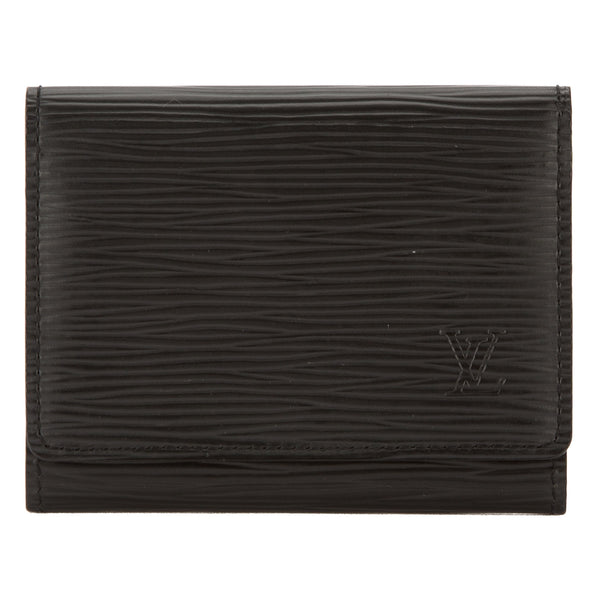 5a728cdd1275 Louis Vuitton Noir Epi Leather Business Card Holder (Pre Owned ...