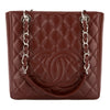 Chanel Bordeaux Quilted Caviar Leather Petit Shopping Tote PST Bag (Pre Owned)