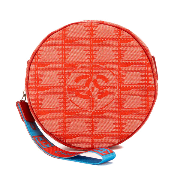 f7f0d016ff92 Chanel Rouge Nylon Canvas Round New Travel Line Case (Pre Owned ...