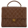 Chanel Brown Quilted Caviar Leather Matelasse Tote Bag (Pre Owned)