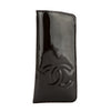 Chanel Black Enamel Leather Glasses Case (Pre Owned)