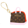 Louis Vuitton Pink and Red Monogram Canvas Porte Cles Alma BB Bag Charm (Pre Owned)