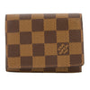 Louis Vuitton Damier Ebene Canvas Business Card Holder (Pre Owned)