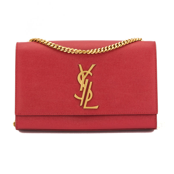 057f8106b6b Yves Saint Laurent Saint Laurent Red Grained Leather Classic Medium Kate Monogram  Bag New with Tags