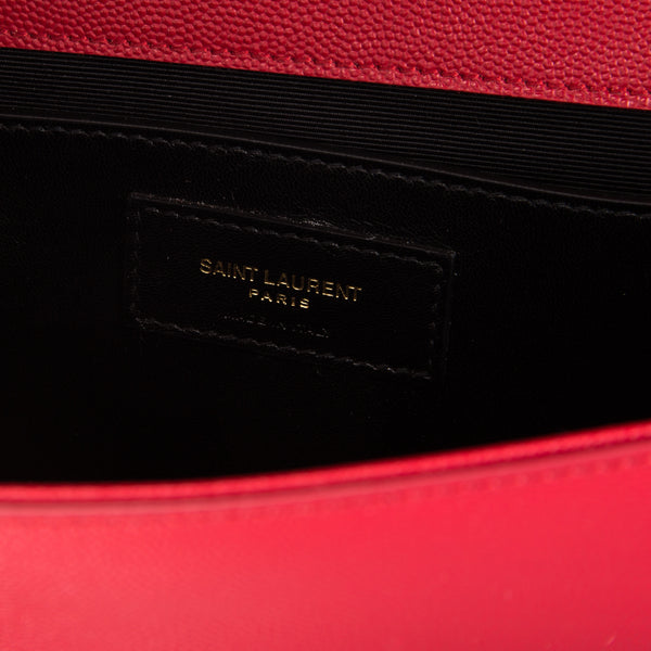 31d818c67f1 ... Saint Laurent Red Grained Leather Classic Medium Kate Monogram Bag (New  with Tags) ...