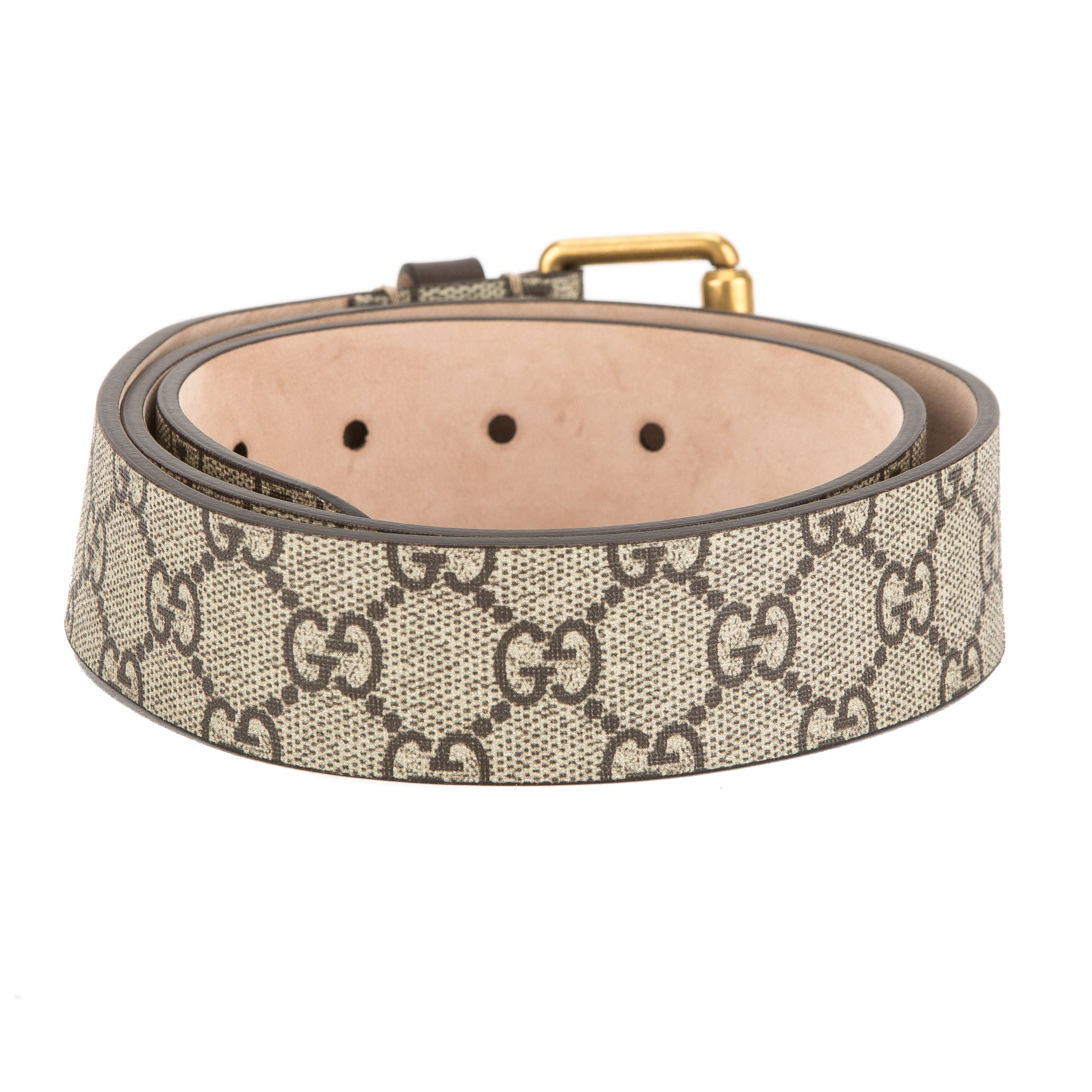 85435b18a1f Gucci GG Supreme Canvas Snake Print Belt (New with Tags) - 3571002 ...