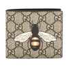Gucci GG Supreme Canvas Bee Print Wallet (New with Tags)