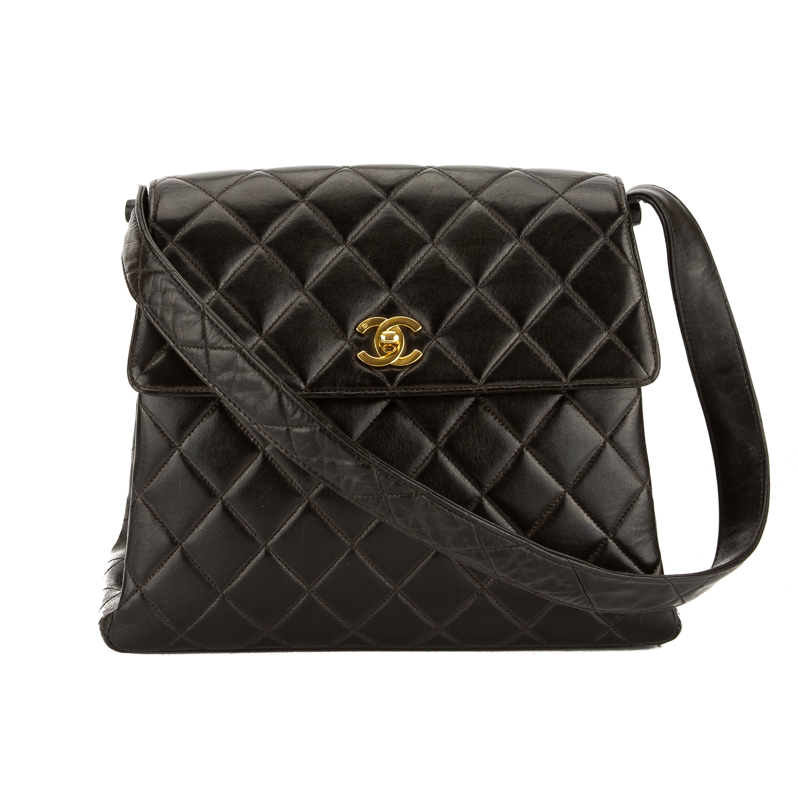 bff9c3deb7 Chanel Black Lambskin Leather Medium Kelly Bag (Pre Owned) - 3576013 ...